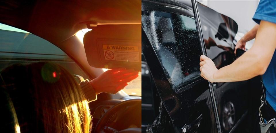Phim cách nhiệt ôtô còn có khả năng chống chói, bảo vệ mắt, da... Đồ họa: M.H